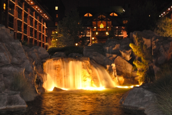Night Wilderness Lodge Shot