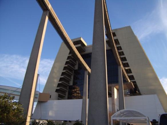 Contemporary Monorail entrance