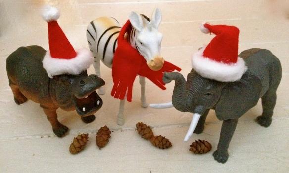 Jingle Animals on White