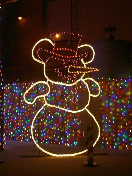 Mickey Ears Snowman