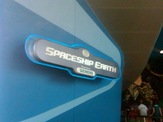 Spaceship Earth sign