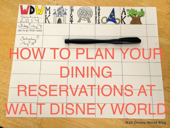 HOW TO PLAN YOUR DINING RESERVATIONS AT WALT DISNEY WORLD