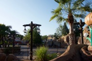 A quiet morning in the back of Fantasyland.