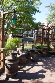 Tangled Rest Area with water fountains and charge station