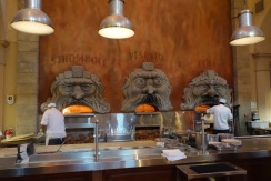 Crazy cool pizza ovens at Via Napoli