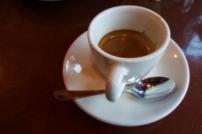 Espresso with dessert